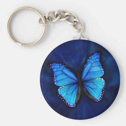 Chaveiro azul da borboleta