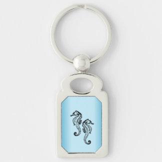 Chaveiro Azul do cavalo marinho