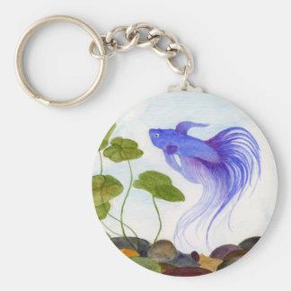 Chaveiro azul dos peixes de Betta