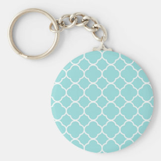 Chaveiro Azul Quatrefoil de Shell do Limpet