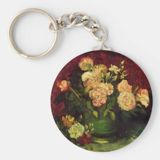Chaveiro Bacia de Van Gogh com peônias e rosas, belas artes