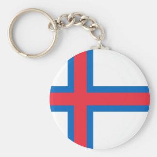 Chaveiro Baixo custo! Bandeira de Faroe Island