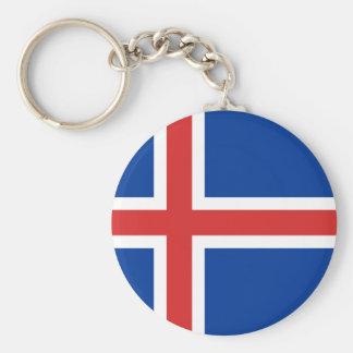 Chaveiro Baixo custo! Bandeira de Islândia