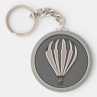 Chaveiro Balão de ar quente de prata