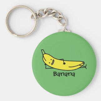 Chaveiro Banana que é de sorriso, estabelecendo e relaxando