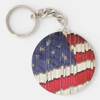 Chaveiro Bandeira americana abstrata
