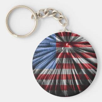 Chaveiro Bandeira americana dos fogos-de-artifício