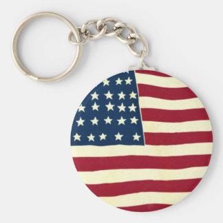Chaveiro Bandeira americana patriótica do vintage, quarto