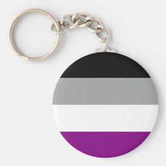 Chaveiro Bandeira assexuada do orgulho