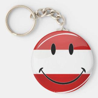 Chaveiro Bandeira austríaca de sorriso
