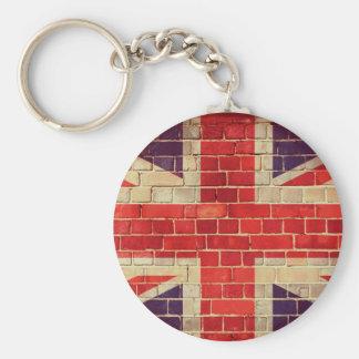 Chaveiro Bandeira BRITÂNICA do vintage em uma parede de
