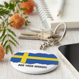 Chaveiro Bandeira da suecia