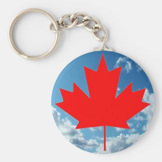 Chaveiro Bandeira de Canadá e céu azul