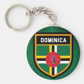 Chaveiro Bandeira de Dominica