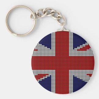 Chaveiro Bandeira de ingleses da bandeira do jaque de união