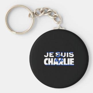 Chaveiro Bandeira de Je Suis Charlie-Eu Am Charlie-Israel