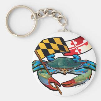 Chaveiro Bandeira de Maryland do caranguejo azul