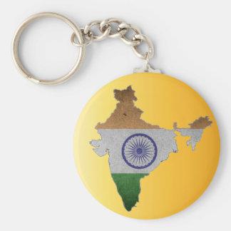 Chaveiro bandeira de país de india