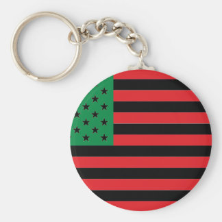 Chaveiro Bandeira do afro-americano - preto e verde
