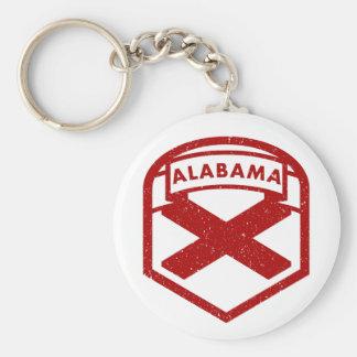 Chaveiro Bandeira do estado de Alabama