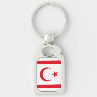 Chaveiro Bandeira do norte de Chipre