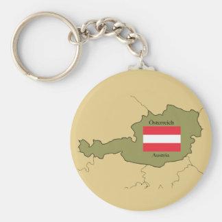 Chaveiro Bandeira e mapa de Áustria