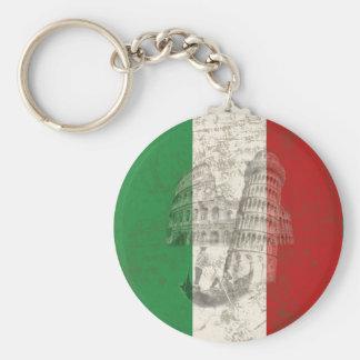 Chaveiro Bandeira e símbolos de Italia ID157