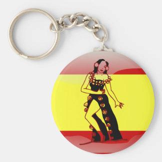Chaveiro Bandeira lustrosa da espanha