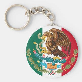 Chaveiro Bandeira mexicana e corrente chave Tricolor da