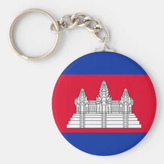 Chaveiro Bandeira nacional do mundo de Cambodia