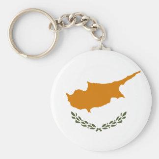 Chaveiro Bandeira nacional do mundo de Chipre