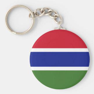 Chaveiro Bandeira nacional do mundo de Gambia