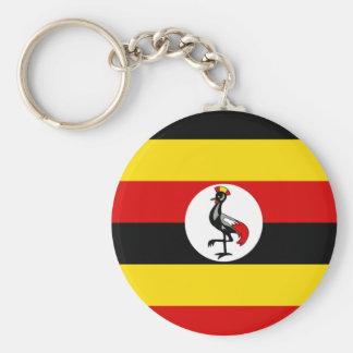 Chaveiro Bandeira nacional do mundo de Uganda