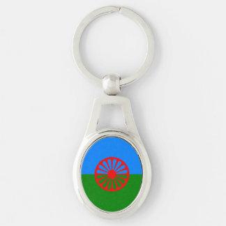 Chaveiro Bandeira oficial do cigano do Romani
