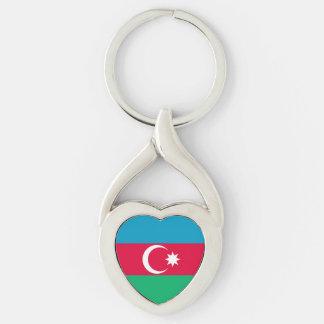 Chaveiro Bandeira patriótica de Azerbaijan