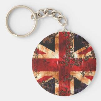Chaveiro Bandeira patriótica oxidada de Reino Unido