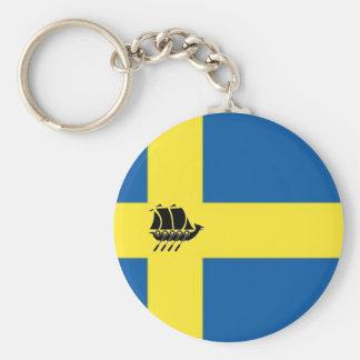 Chaveiro Bandeira sueco com o escandinavo do navio de