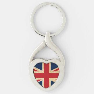Chaveiro Bandeira velha Union Jack de Reino Unido do Grunge