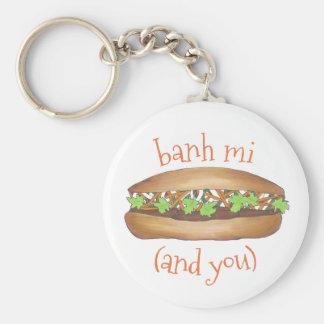 Chaveiro Banh MI (entre mim) e você sanduíche vietnamiano