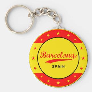 Chaveiro Barcelona, Spain, circle with flag colors