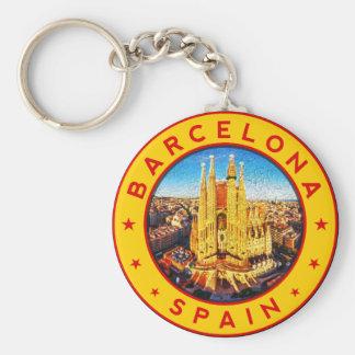 Chaveiro Barcelona, Spain, circle, yellow
