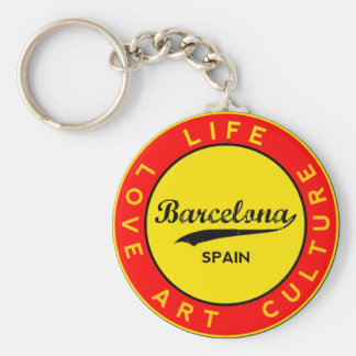 Chaveiro Barcelona, Spain, red circle, art