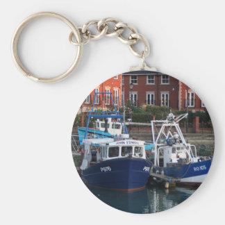 Chaveiro Barcos de pesca, Portsmouth, Inglaterra
