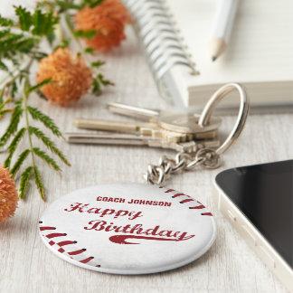 Chaveiro Basebol do Grunge do feliz aniversario do