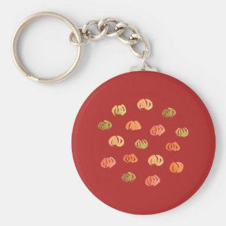 Chaveiro básico do botão da abóbora