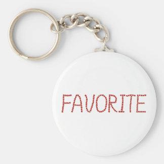 Chaveiro básico favorito do botão