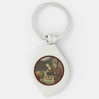 Chaveiro Bebê adorador Jesus dos pastores por Cranach