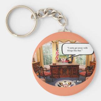 Chaveiro Bebê de Trumpy - escritório oval - corrente chave