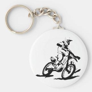 Chaveiro Bicicleta e cavaleiro simples de Motorcross