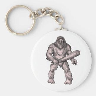 Chaveiro Bigfoot que guardara o tatuagem ereto do clube